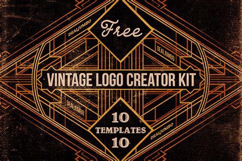 free logo design kit free vintage logo creator kit on behance