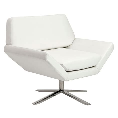 Modern White Lounge Chair by Modern Lounge Chairs Carlotta White Lounge Chair Eurway