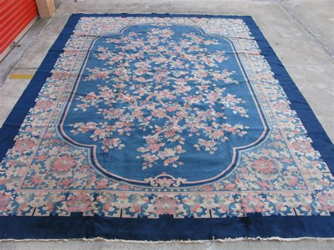 antique art deco chinese rug hand knotted wool china ca