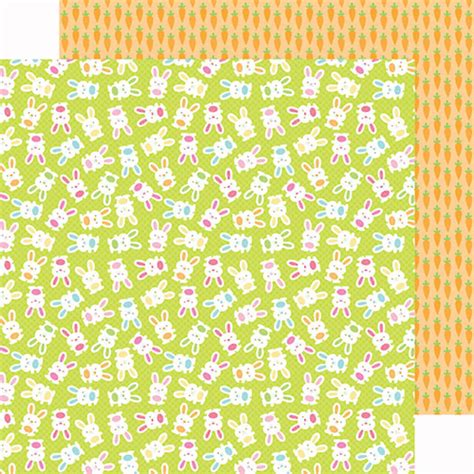 doodlebug paper doodlebug design springtime cottontails paper
