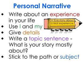 How To Write A Personal Narrative Essay by 6thgrade Libertyschool Language