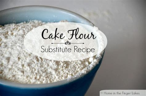 cake flour substitute recipe