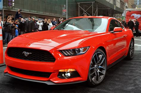 2015 mustang news photo gallery 2015 ford mustang debuts in new york city