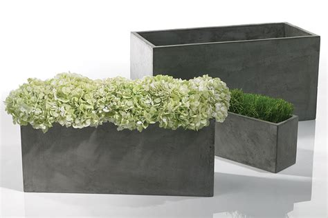 Large Rectangular Concrete Planters by Newport Rectangular Concrete Planter Moss Manor