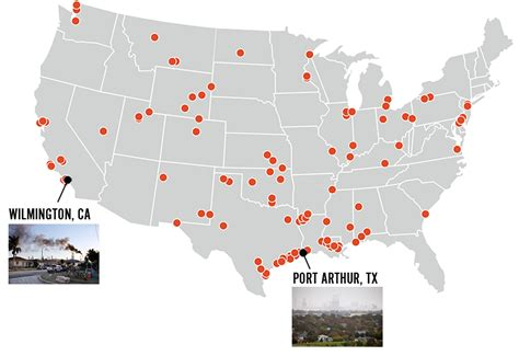 map us refineries bringing the fight home to refinery towns earthjustice