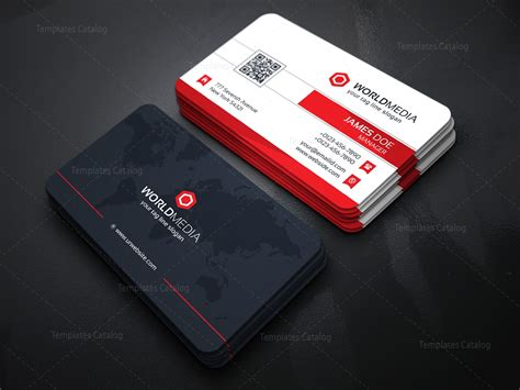 Multimedia Card media company business card template template catalog