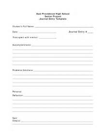 Diary Entry Template by Best Photos Of Journal Template For Students Student