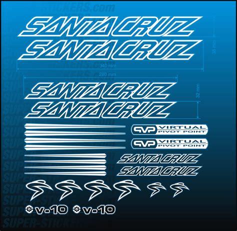 Kona Aufkleber Set by Santa Santacruz Fahrrad Rahmen Aufkleber Sticker