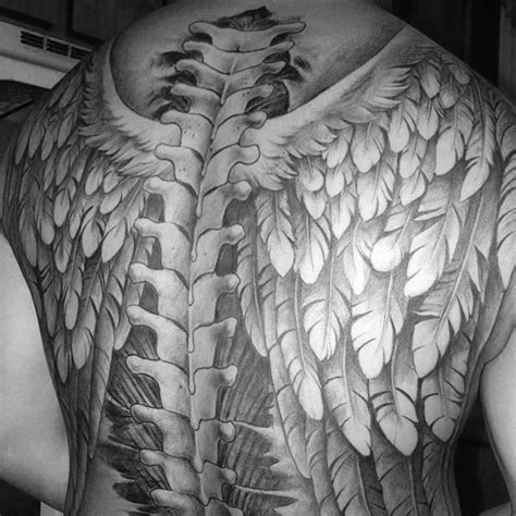 75 Spine Tattoos For Men Masculine Ink Design Ideas Wings On Back Tattoos 2