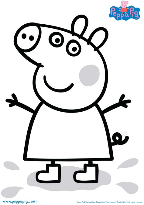 peppa pig drawing templates activities and color ins to print out and