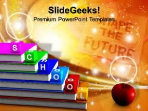 powerpoint templates education theme alphabet blocks school education powerpoint templates and