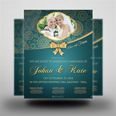 wedding party flyer template vol 2 by owpictures