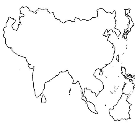 coloring page map of asia physical map of asia coloring pages