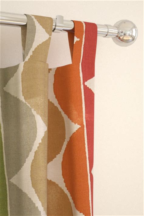 orange ring top curtains yoki terracotta moss amber tab top curtains by scion