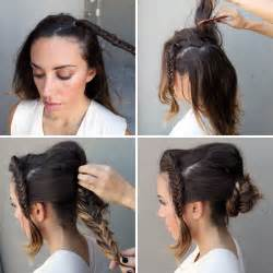 put your hair in a bun with braids 10 unconventional ways to style a braid brit co
