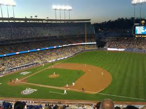 Dodger Stadium Sections by Dodger Stadium Section 28rs Row L Seat 1 Los Angeles