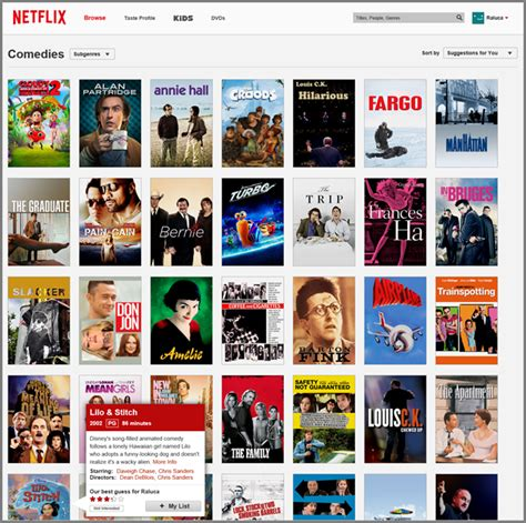comedy film on netflix search is not enough synergy between navigation and search