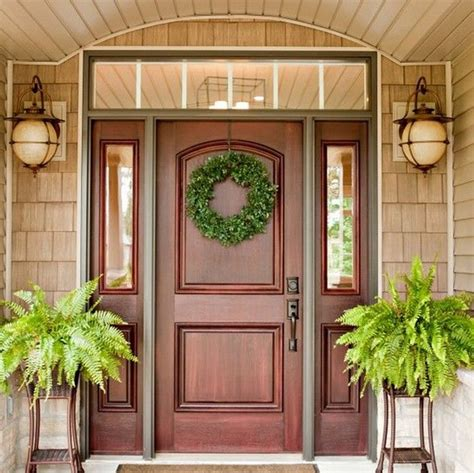 awesome front doors solid wood front door with sidelights lacabrera org