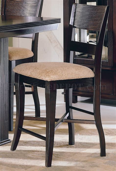 rich mocha finish counter height modern dinette table w