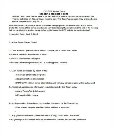 meeting report template meeting report templates 12 free word pdf format