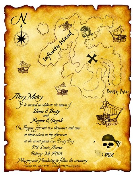 treasure map invitation template pirate wedding invitation what a idea for the home