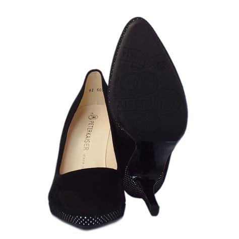 dressy high heel shoes kaiser hertha s high heel black suede court