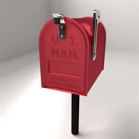 mailbox for us mailbox 3d model 3ds fbx blend dae cgtrader