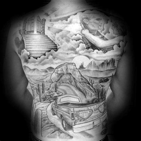 60 truck tattoos for men vintage and big rig ink design