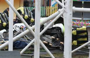 theme park uk accidents roller coaster derails at scottish theme park 10 injured