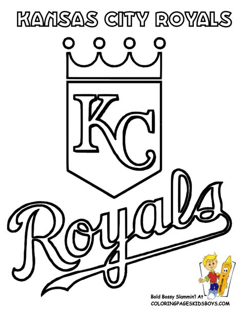 kansas city royals colors big baseball coloring sheet american league teams