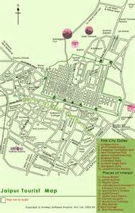 Jaipur Map Of Attractions