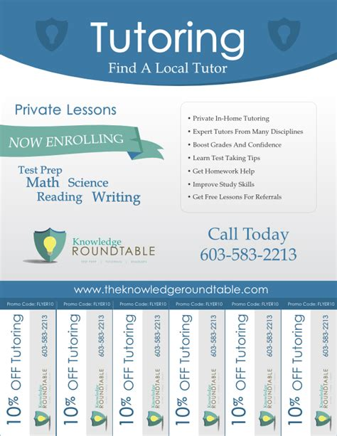 tutoring flyer template cool tutoring flyers the knowledge roundtable