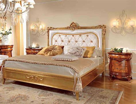 Italienisches Bett by Luxus Doppelbett 200x200 Blattgold Furnier Klassische