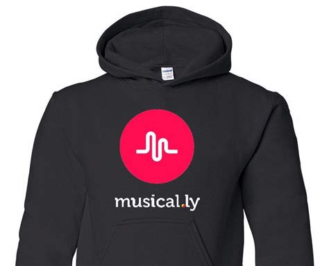 Hoodie Musical Ly musical ly graphic black hoodie sweatshirt youth size s m l xl t 125h ebay