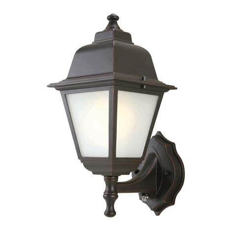 Hton Bay 1 Light Oil Rubbed Bronze Outdoor Dusk To Dawn Outdoor To Dusk Lights