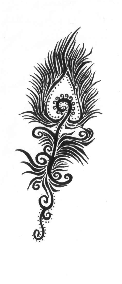 simple peacock tattoo design black n grey peacock feather tattoo design