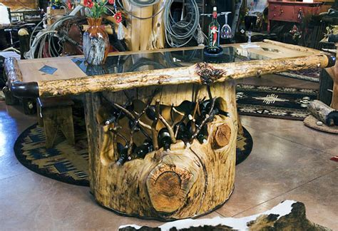 Tree Trunk Bar Top by Horn Mountain Living Crafted Wood Furniture