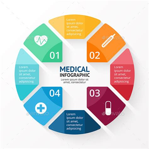 Medical Circle Plus Sign Infographic By Graphic Seamus Graphicriver Circle Infographic Template