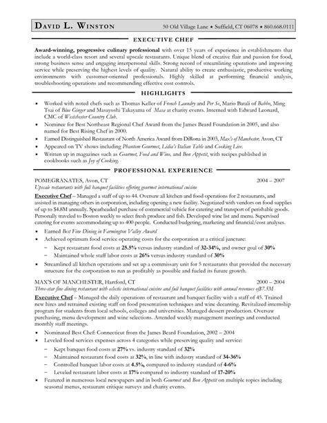 Junior Sous Chef Cover Letter by Sle Resume For Sous Chef Resume Sles