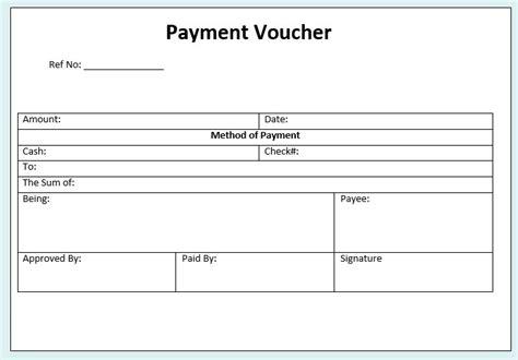 payment voucher template 10 free sle payment voucher templates printable sles