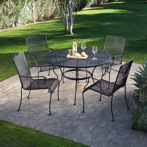 Patio Table With 4 Chairs Extraordinary Pendant On Wrought Iron Patio Table And 4