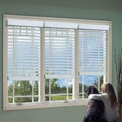 Cordless Wood Blinds Lift Window Treatment White 2 In Cordless Faux