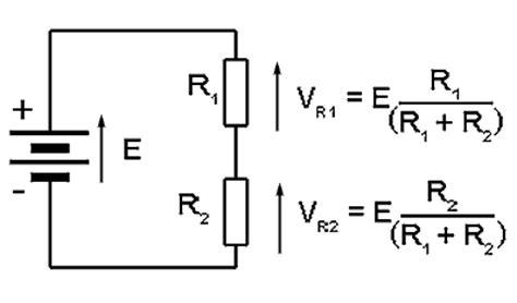 resistance voltage divider formula current and voltage