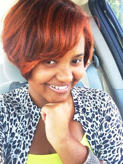 auburn highlights fir black women short hairdos 18 best auburnnnn images on pinterest natural hair