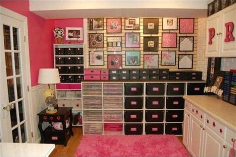pink craft room black pink craft room scrapbook and craft room ideas