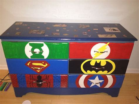 superhero bedroom paint ideas hand painted dresser for a boys superhero room decor ideas pinterest