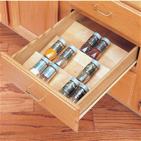 kitchen cabinet drawer inserts spice racks spice drawer inserts kitchensource com