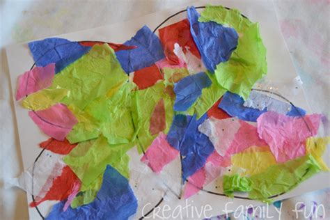How To Make Butterflies Out Of Tissue Paper - get crafty layered tissue paper butterflies creative
