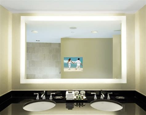 bathroom mirror with tv built in backlit tv mirror has 15 4 quot lcd television installed