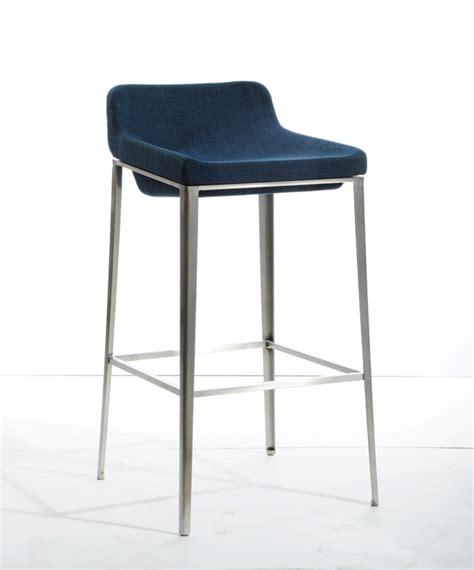 lounge bar stools modrest adhil modern blue fabric bar stool bar lounge